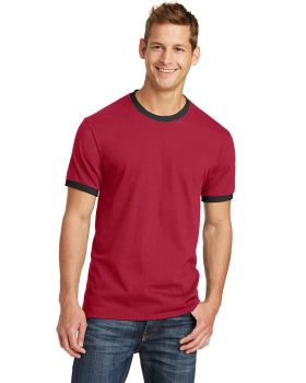 Port & Company PC54R Core Ringer Cotton T-Shirt