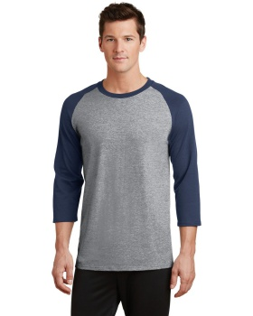 Port & Company PC55RS Core Blend 3/4-Sleeve Raglan Tee