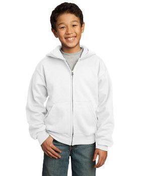 Port & Company PC90YZH Youth Core Fleece Full-Zip Hooded Sweatshirt