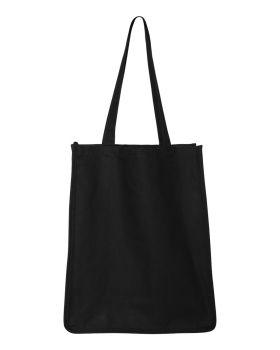 Q-Tees Q125400 27.3L Gusseted Jumbo Canvas Shopper