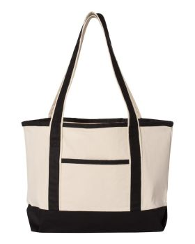 Q-Tees Q125800 20L Small Canvas Deluxe Tote