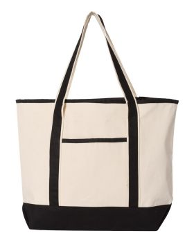 Q-Tees Q1500 Large Canvas Deluxe Tote