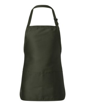 Q-Tees Q4250 Full Length Apron with Pouch