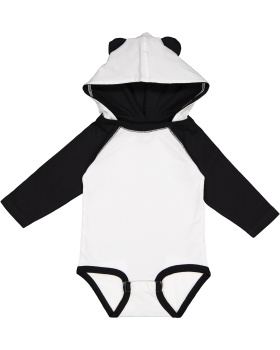 Rabbit Skins 4418 Infant Long Sleeve Fine Jersey Bodysuit With Ears