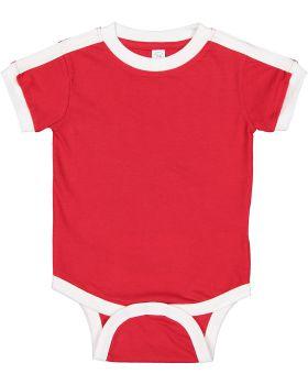 Rabbit Skins 4432 Infant Soccer Ringer Fine Jersey Bodysuit