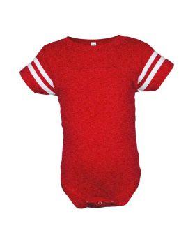 Rabbit Skins 4437 Infant Football Fine Jersey Bodysuit