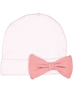 Rabbit Skins 4453 Premium Jersey Infant Bow Cap