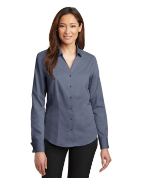 Red House RH63 Ladies French Cuff Non Iron Pinpoint Oxford Dusk Shirt