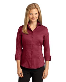 Red House RH69 Ladies 3/4-Sleeve Nailhead Non-Iron Shirt