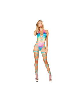 RomaCostume 3295 Open Strappy Romper With Hook Closure