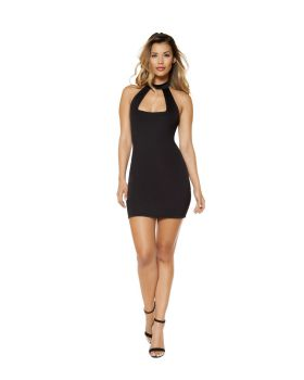 RomaCostume 3344 Partially Lined Cutout Top Mini Dress