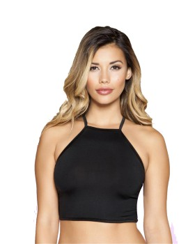 RomaCostume 3397 Halter Neck Crop Top with Strappy Back