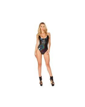 RomaCostume 3427 Romper With Lace-Up Detail