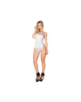 RomaCostume 3429 Shimmer Romper With Side Lace-Up Detail
