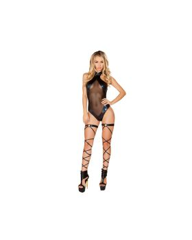 RomaCostume 3501 Romper With Sheer Panels
