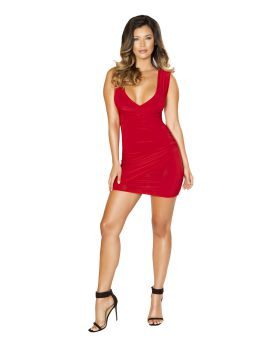 RomaCostume 3516 Mini Dress With Overlapping Scrunch Detail
