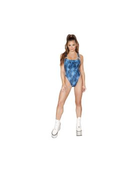 RomaCostume 3551 1Pc Overall Romper With Pocket Front Detail