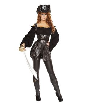 RomaCostume 4692 3Pc Pirate Of The Night