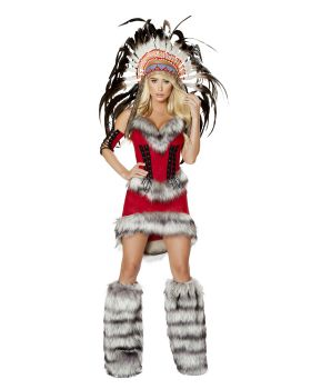 RomaCostume 4705 3Pc Native American Babe
