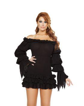 RomaCostume 4770 Ruffled Pirate Dress With Sleeves & Multi Layered Skirt