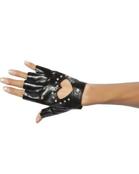 RomaCostume GL101 Glove W/Cut-Out Heart And Stones