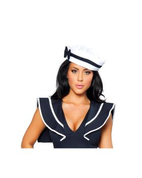 RomaCostume H105 Sailor Hat With Blue Bow