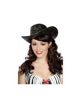 RomaCostume H4152 Black Straw Hat