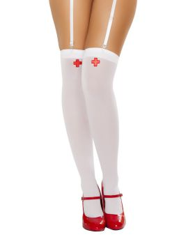 RomaCostume ST4758 Nurse Stockings With Cross
