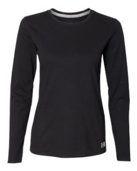 Russell Athletic 64LTTX Women's Essential Long Sleeve 60/40 Performance  ...