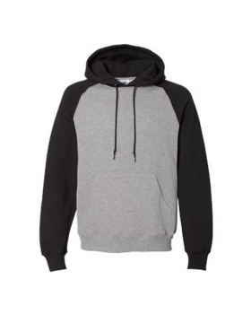 Russell Athletic 693HBM Dri Power Colorblock Raglan Hooded Sweatshirt