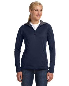 Russell Athletic FS8EFX Women Tech Fleece Quarter-Zip Pullover Hood