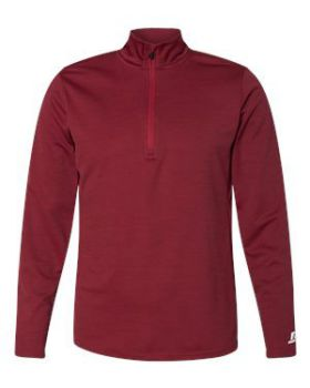 Russell Athletic QZ7EAM Striated Quarter-Zip Pullover