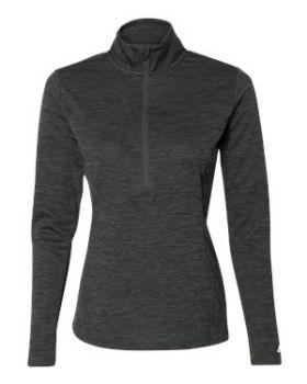 Russell Athletic QZ7EAX Women's Striated Quarter-Zip Pullover