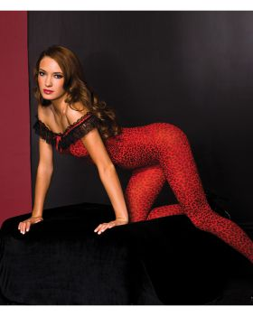 Sky hosiery ML1262 Bodystocking With Ruffle Trim