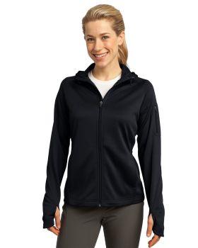 Sport Tek L248 Ladies Tech Fleece Full Zip Hooded Jacket