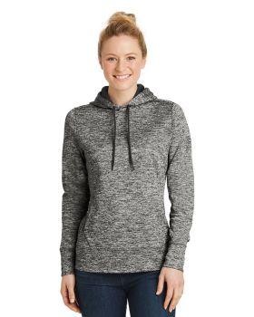 'Sport Tek LST225 Ladies Posicharge Electric Heather Fleece Hooded Pullover'