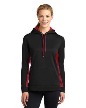 Sport Tek LST235 Ladies Sport-Wick Fleece Colorblock Hooded Pullover
