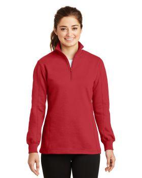 'Sport Tek LST253 Ladies One Half Zip Sweatshirt'