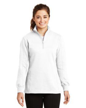 Sport Tek LST253 Ladies One Half Zip Sweatshirt