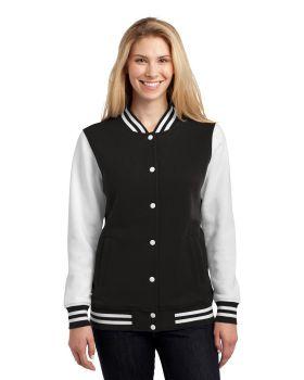 Sport Tek LST270 Ladies Fleece Letterman Jacket