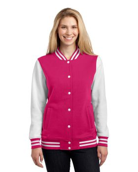 Sport Tek LST270 Ladies Fleece Letterman Jacket