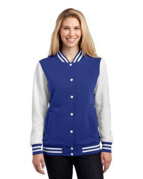 'Sport Tek LST270 Ladies Fleece Letterman Jacket'