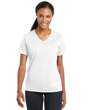 Sport Tek LST340 Ladies Posicharge Racermesh V-Neck T-Shirt