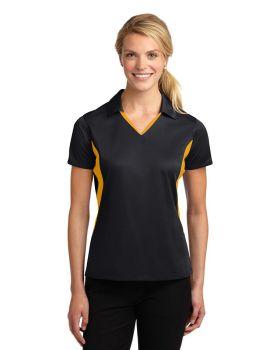 'Sport Tek LST655 Ladies Side Blocked Micropique Sport-Wick Sport Shirt'