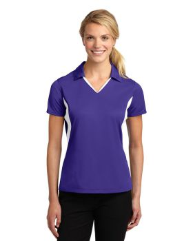 Sport Tek LST655 Ladies Side Blocked Micropique Sport-Wick Sport Shirt