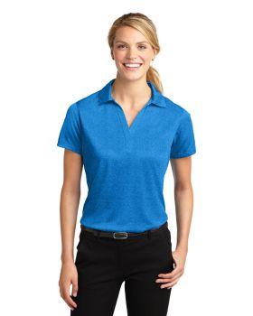 Sport Tek LST660 Ladies Heather Contender Polo Shirt
