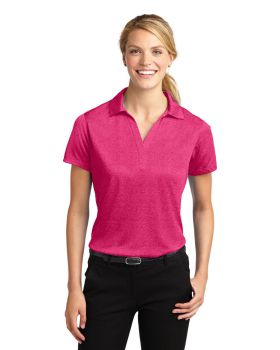 Sport Tek LST660 Ladies Heather Contender Polo Shirt
