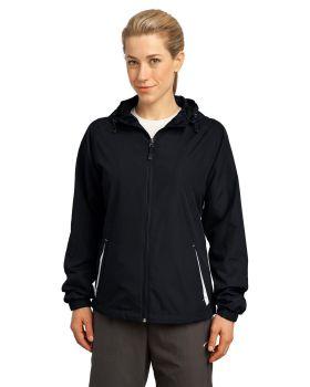 Sport Tek LST76 Ladies Colorblock Hooded Jacket