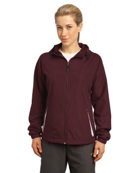 Sport Tek LST76 Ladies Colorblock Hooded Jacket