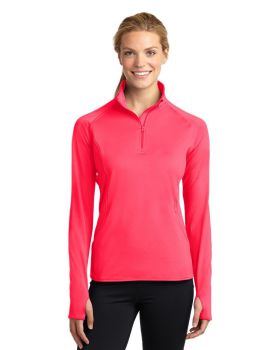 'Sport Tek LST850 Ladies Sport Wick Stretch Half Zip Pullover'